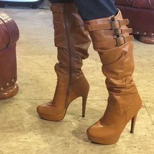 """Shoes - 🐔3/$23 Women's tall pleated boots with 5"""" heels"""